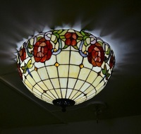 free shipping tiffany ceiling mounted lighting for hall