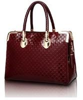 GZ-118 New 2014 fashional messenger for women handbag leather handbags designers branded embossed japanned bags big bag totes