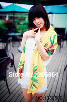 Free shipping 2013 new arrival scarf sunscreen anti-uv silk scarf velvet chiffon shawl 70X170CM