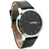 Hot sale! 100% real EYKI brand watches Lover's Couple watches men women High quality Leather Wristwatch 8410 one piece price