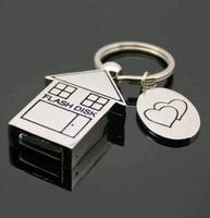 Free shipping Wholesale full capacity 2GB 4GB 8GB 16GB 32GB house shape 2.0 Memory Stick USB Flash Drive, E1031