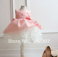 Rerail! Free shipping 2014 new design  beautiful Princess dress girls lace dress New Year's clothes dresses  RT-001