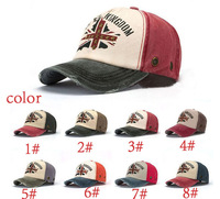 Square flag branded sports Baseball caps  Unisex Distressed Wearing Style Outdoor Sun Hat free shipping