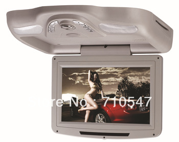 10 inch Roof Mount flip down Car DVD Player with Wireless Game IR USB SD FM PAL NESC