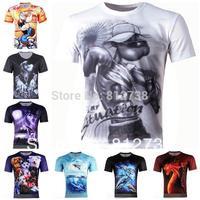 Free Shipping Men's Popeye 3D Creative Floral T-Shirt &125,Punk 3d Short Sleeve Tee Shirt S-6XL,Plus Size