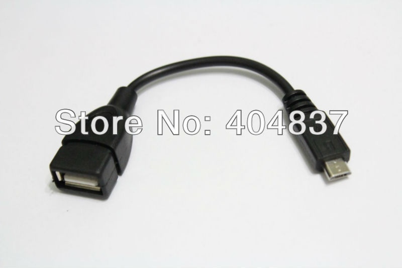 free shipping 5pcs/lot mini micro otg cable for tablet pc black color