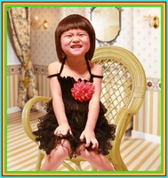 Available 2013 new Retail summer girl dress tutu dress girl party the dress 3~11Age tutu dress baby clothing