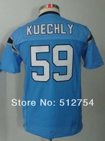 Free Shipping #59 Luke Kuechly Kids/Youth American Football Jersey,Embroidery and Sewing Logos,Size S--XL,Accept Mix Order