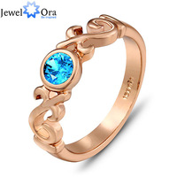 Sale Promotion Rhinestone Rose Gold Plated Ring  #RI100832 JewelOra Fashion Jewelry Delicate Rings For Women 2014
