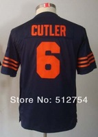 Free Shipping #6 Jay Cutler Kids/Youth American Football Jersey,Embroidery and Sewing Logos,Size S--XL,Accept Mix Order