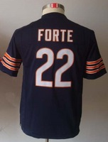 Free Shipping #22 Matt Forte Kids/Youth American Football Jersey,Embroidery and Sewing Logos,Size S--XL,Accept Mix Order