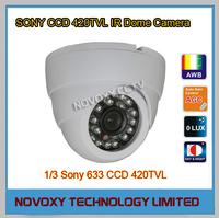 "Free Shipping 1/3"" Sony 420TVL 24PCS LED IR Distance 20m/66ft CCTV Eyeball IR Dome Camera 3.6/6mm Lens Day Night Security Camera"
