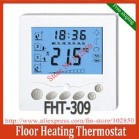 Free Shipping programmable digital Floor heating thermostat,large LCD display,Stylish and slimline design,backlight function