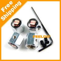 New 4PCS Caps Anti-Theft Locking Tire air valve caps For Seat #3508
