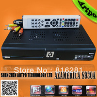 Azamerica  S930A Nagra 3 Twin Tuner support wifi with SKS, tv box  free shipping by HK post