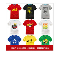 2014 Promotion Freeshipping Casual Special Offers / for Big Bang Han Edition Men's Clothing Short Sleeve T-shirt/couples T-shirt