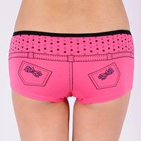 Free Shipping ladies cotton panty women sexy boyshorts ladies jeans shaped panties 12pcs/lot
