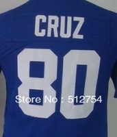 Free Shipping #80 Victor Cruz Kids/Youth American Football Jersey,Embroidery and Sewing Logos,Size S--XL,Accept Mix Order