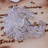 925 sterling silver flower  bangle women's bracelet 2013 new arrival wholesale