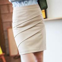 New Arrival Black Beige Color  Career Formal Knee-Length Short Skirt 2014 Women's Fashion Slim Hip Work Pencil Skirts