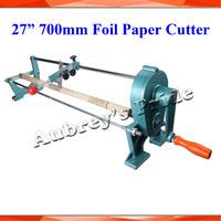 Brand New 27inch 70CM Manual Gold Foil Slitter Cutter Hot Stamping Gilded Foil Paper PU Vinyl Cutting Machine