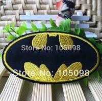 Free Shipping~10 pcs x Embroidered Superhero Shining Gold Batman Iron On Sew On Patch~ Wholesale DIY accessory