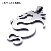 TSP074791 Free Chain Fashion Titanium 316L Stainless Steel Dragon Pendant Necklace