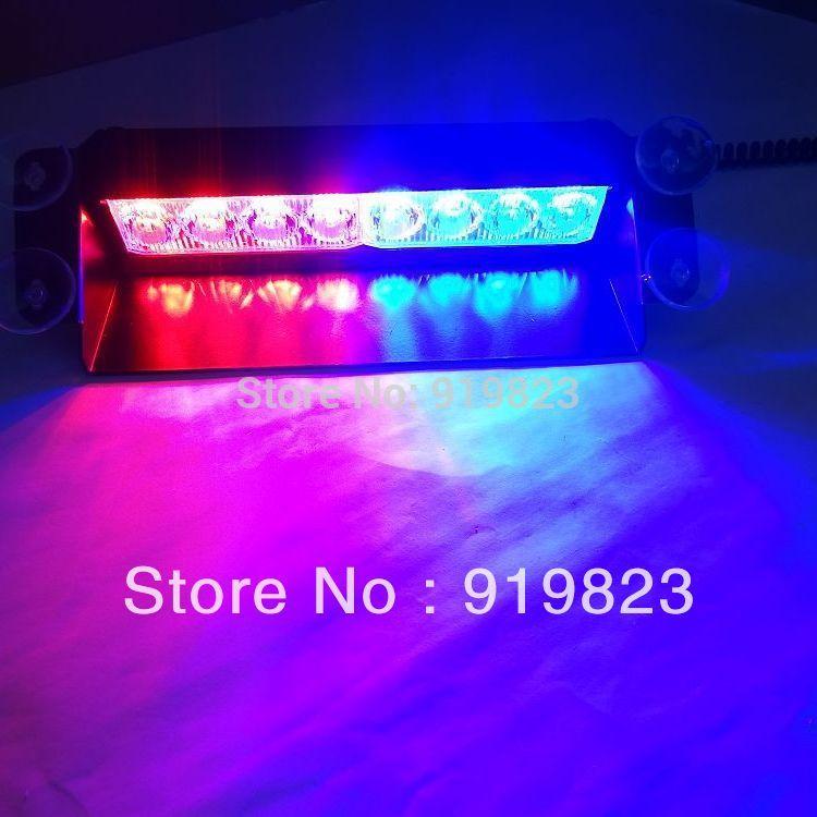 New 8 LED Strobe Flash Warning EMS Police Car Light Flashing Firemen Fog lamp best deal 1pcs(China (Mainland))