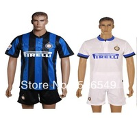 Best quality 2013-2014 Inter Milan home uniforms soccer kit,milan football jersey & short free shipping
