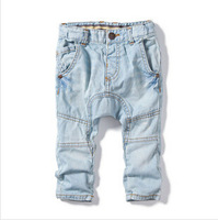 yccz12 high quality boys jeans new 2014 casual denim children pants for spring 2014 boy clothing 5pcs/ lot free shipping