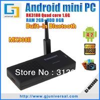 Freeshipping Tronsmart MK908II external WiFi Antenna RK3188 Quad Core Android 4.2 Mini pc HDMI TV Stick 2GB RAM Bluetooth