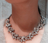 N00283 Free Shipping ! Min order $10 Trend fashion Nice white choker statement necklace for women jewelry at Factory Price