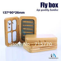 Classic Bamboo Magnetic Fly Box TE 137x90x26mm