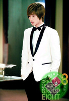 Free shipping Male married suits white suit groom married formal dress slim suit set Custom sizes  Wholesale and retail