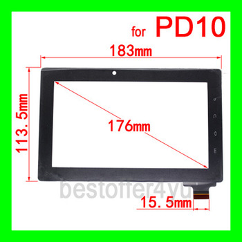 "(15.5MM ) Original  7"" Capacitive Touch Screen Replacement for Freeland Tablet PC Freelander PD10 PD20 PD 10 PD 20 + TRACKING"