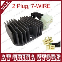 VOLTAGE REGULATOR RECTIFIER, 2 PLUG, 7 WIRE,7 PIN DC, 11 POLE, GY6 125cc 150cc 152QMI 15QMJ Scooter Moped ATV Quad
