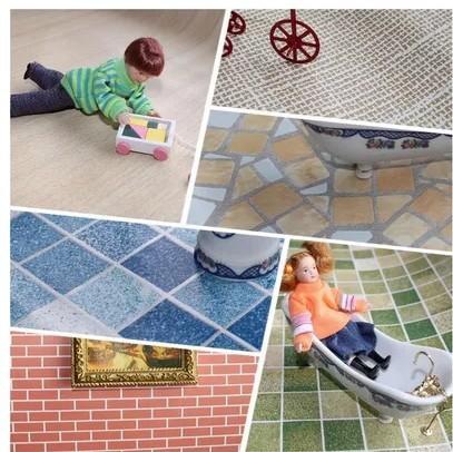 Doll house mini furniture model wallpaper wood flooring - 45 x 30 cm(China (Mainland))