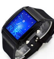 2013 new Vintage table multifunctional waterproof dual display electronic watch cool sports student watch  free shipping