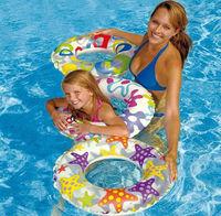 Free shipping  Intex 59230 popular floating ring inflatable swim  ring inflatable child bunts swim ring
