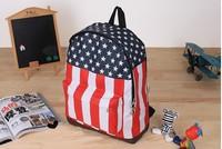 Free shipping Unisex Canvas Handbag teenager School bag Book Campus Backpack bags UK US Flag wholesale Hot sale,