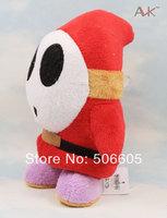 "Nintendo New Super Mario Bros Shy Guy 6"" Soft Plush Doll Figure Stuffed Toy 1pcs/lot"