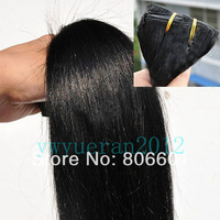 "Retail Virgin Brazilian Factory Outlet Price AAA+16""-28'' Human Hair Extensions Weft 120g #01 - jet black free shipping"