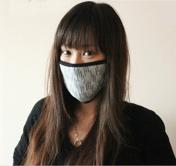 Fashion Bamboo Activated Carbon PM 2.5 Air Pollution Grey Dust Half Face Mask Anti Smell/Formaldehyde/Bacteria In Winter