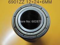 free shipping 6901 6901Z 6901ZZ   12*24*6mm chrome steel  deep groove bearing