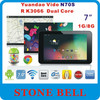 "Yuandao Vido N70S 7"" 7 inch Tablet PC Free Shipping RK3066 Dual Core 1.6GHz 1G RAM 8GB ROM 1024x600 Multi Touch HDMI camera WIFI"