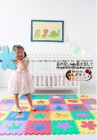 Free shipping Eco-friendly puzzle mats baby crawling pad baby climb a pad 1cm child eva foam pad