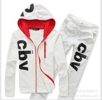 Free shipping 2013 Hot-selling letter print hoodies sports suit for men and women lovers hoodie suit