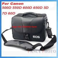 Free Shipping DLSR SLR Camera Bag for Canon 550D 650D 600D 1000D 40D 450D 50D 350D 30D 300D + Rain Cover