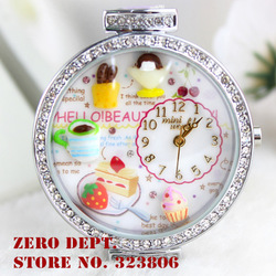 Free shipping original brand korea MINI polymer clay handmade diamond wristwatch AS GIFT-beatiful day(China (Mainland))