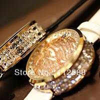 [Free Shipping]  Full Crystal Watches Best Christmas Gift Woman Watches With Box